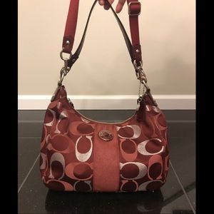 Maroon Coach Satchel Purse Crossbody / Shoulder